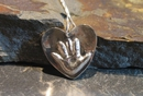 Baby Print Small Heart Pendant