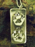 Double Paw Pendants